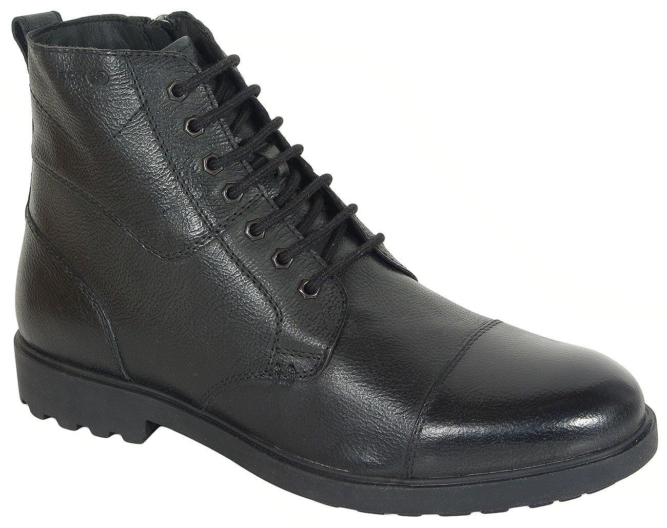 GEOX Rhadalf E trzewiki wrink leather black