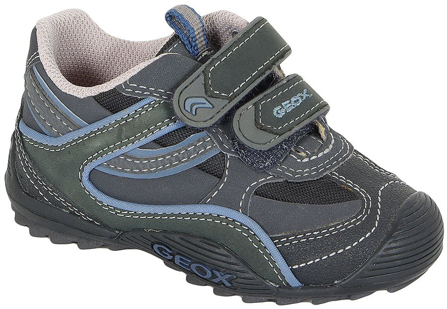 GEOX 24S BABY SAVAGE GRAY/BLUE PÓŁBUTY