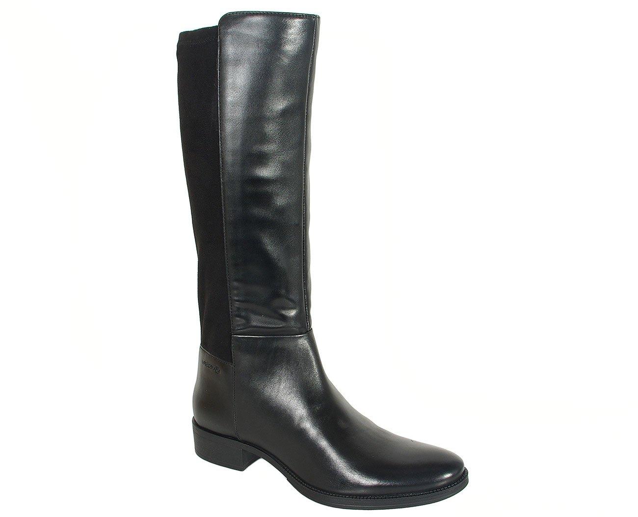 GEOX Laceyin D kozaki GBK+smooth leather black