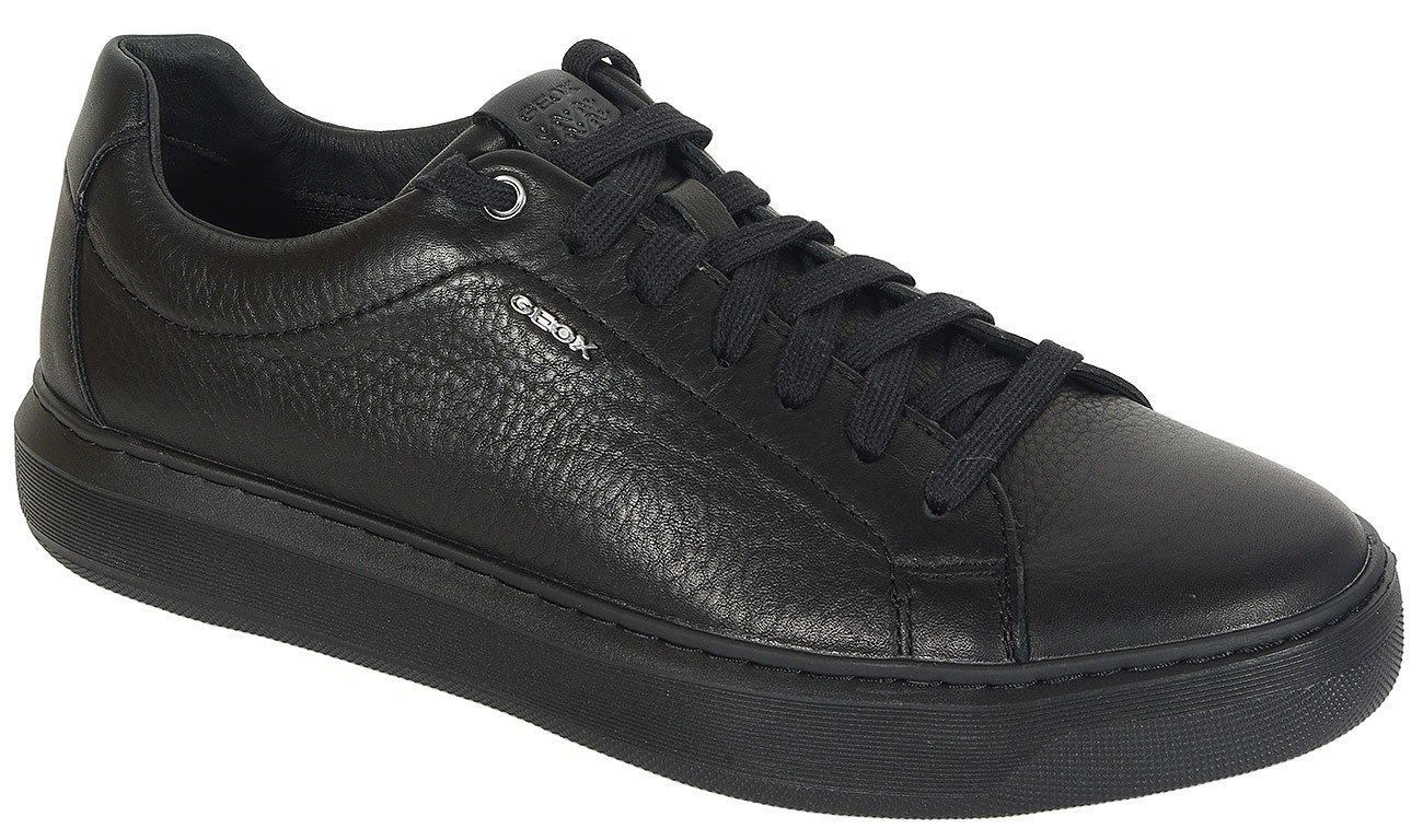 GEOX Deiven B sneakers tumb. oil leather black