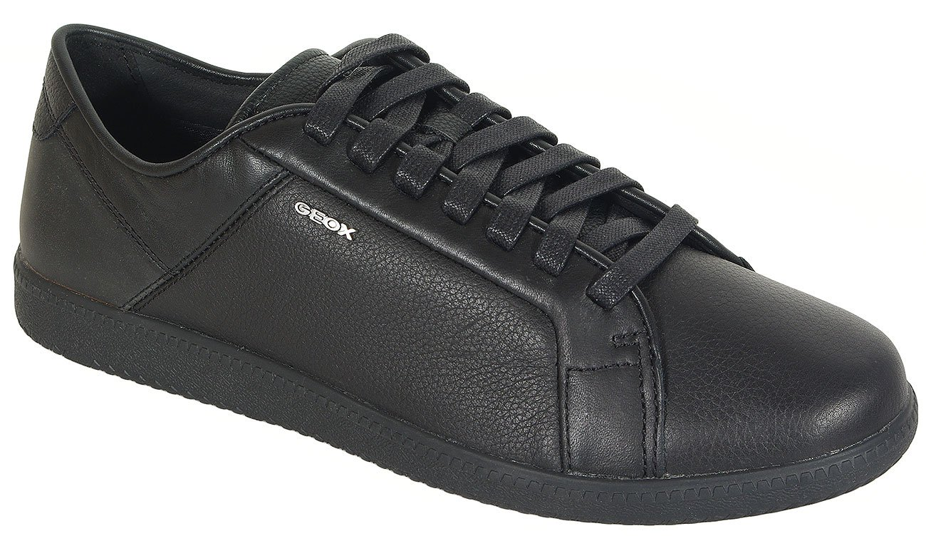 GEOX Keilan D sneakers print.leather+wax.syn. black