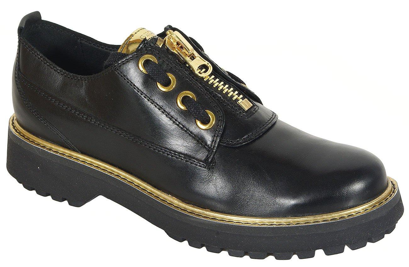 GEOX Asheely Plus B półbuty smooth leather black