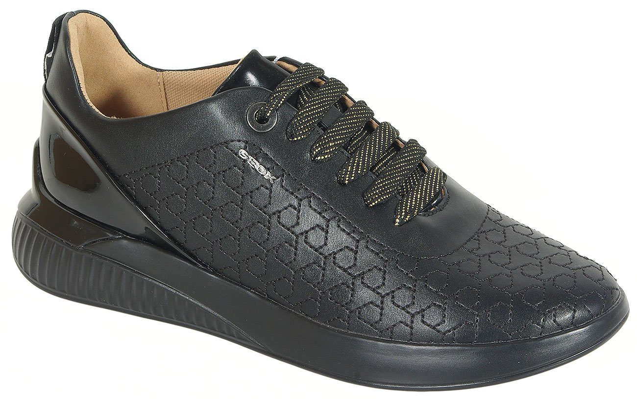GEOX Theragon C sneakers met syn pat black
