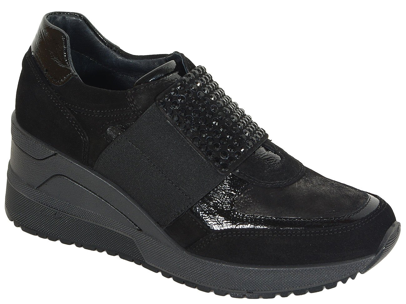 igi&co Connie sneakers scamoscio nero