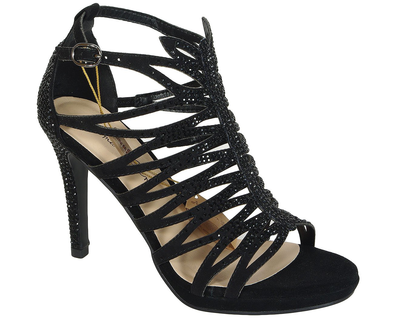 Alma en Pena 17112 Siena Black sandały
