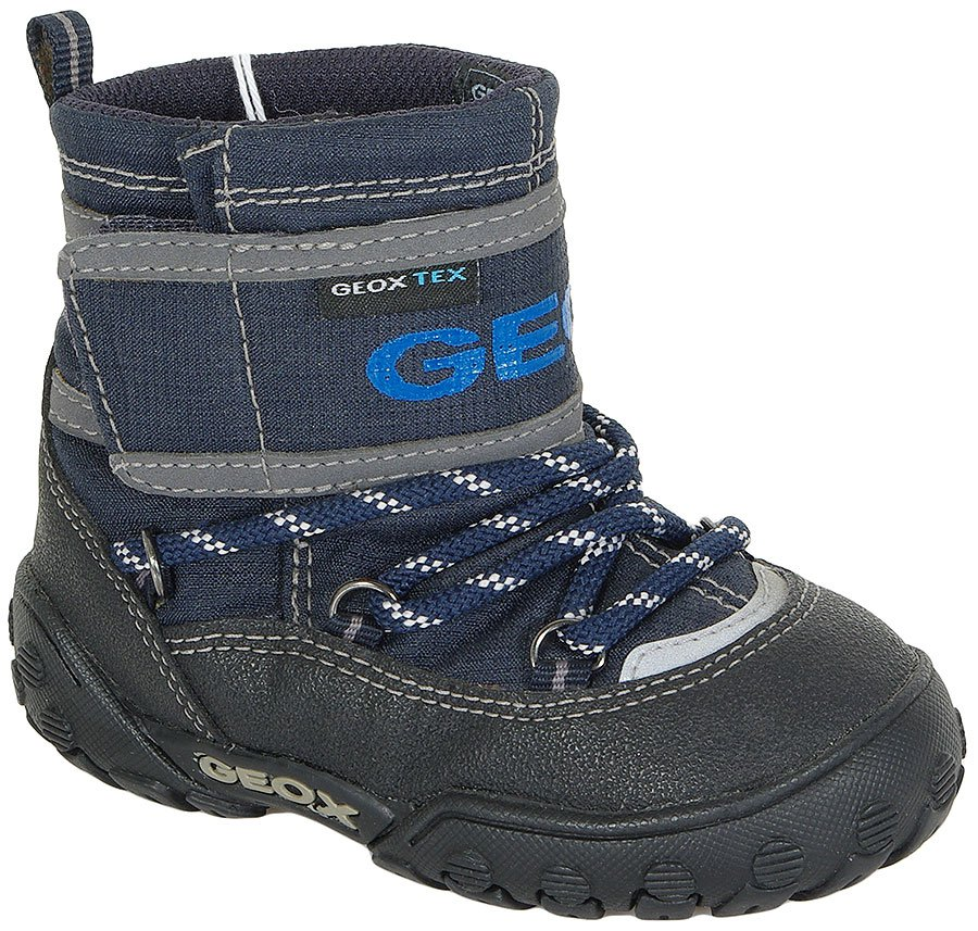 GEOX 15A  B GULP B.WATERPROOF NAVY/BLACK BOTKI