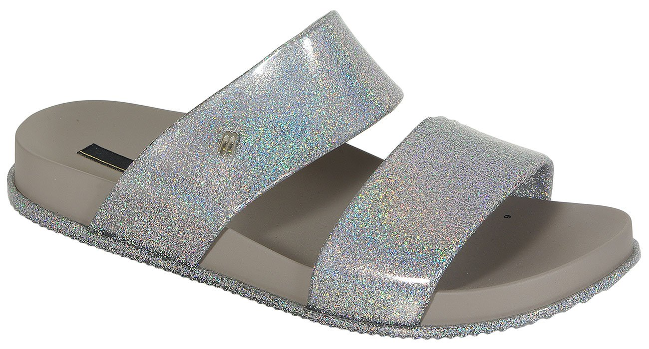 Melissa Cosmic Ad Silver/Glitter klapki