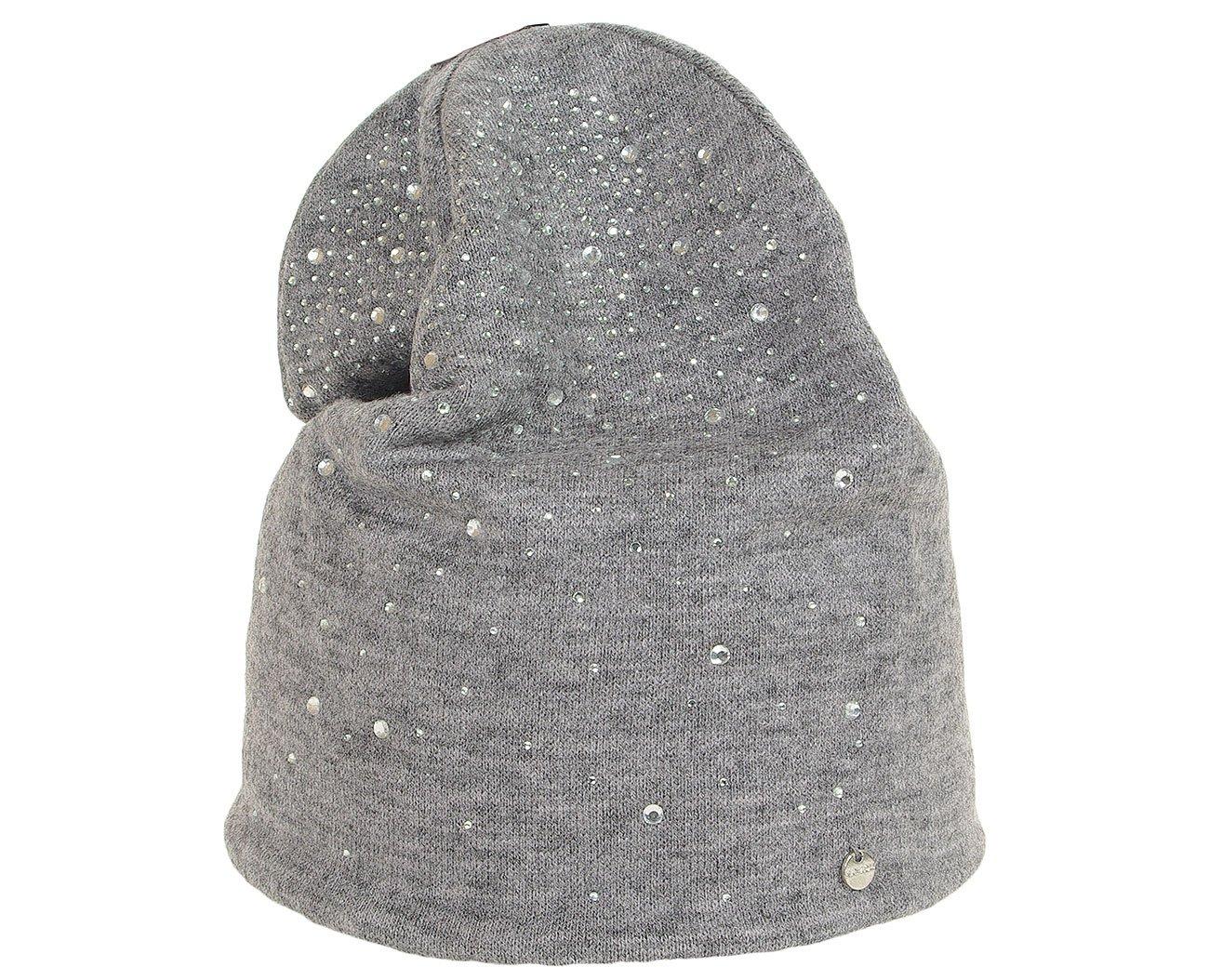 Hat You 2942 czapka z krysztakami grigio
