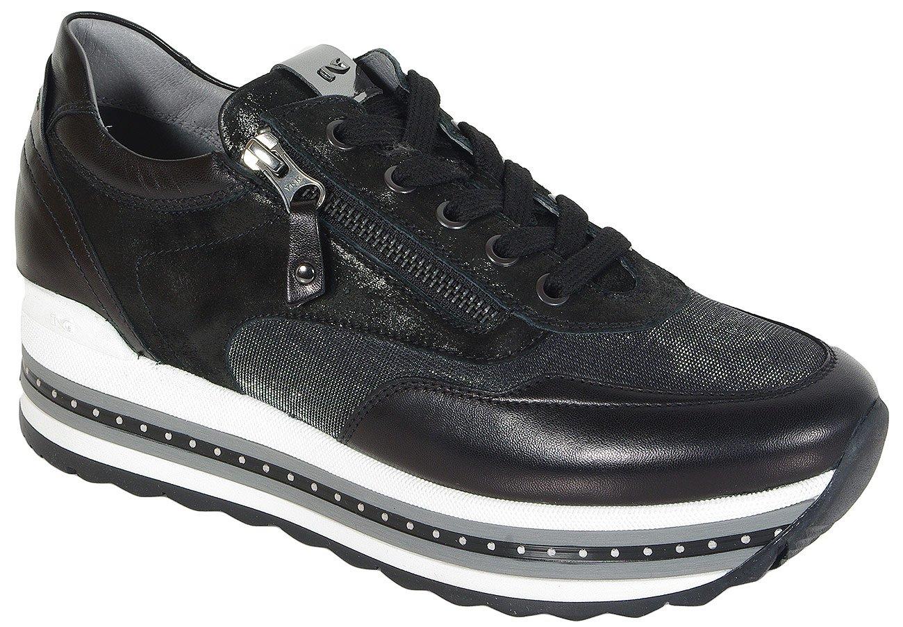 NeroGiardini A806600D sneakers nappa pandora nero