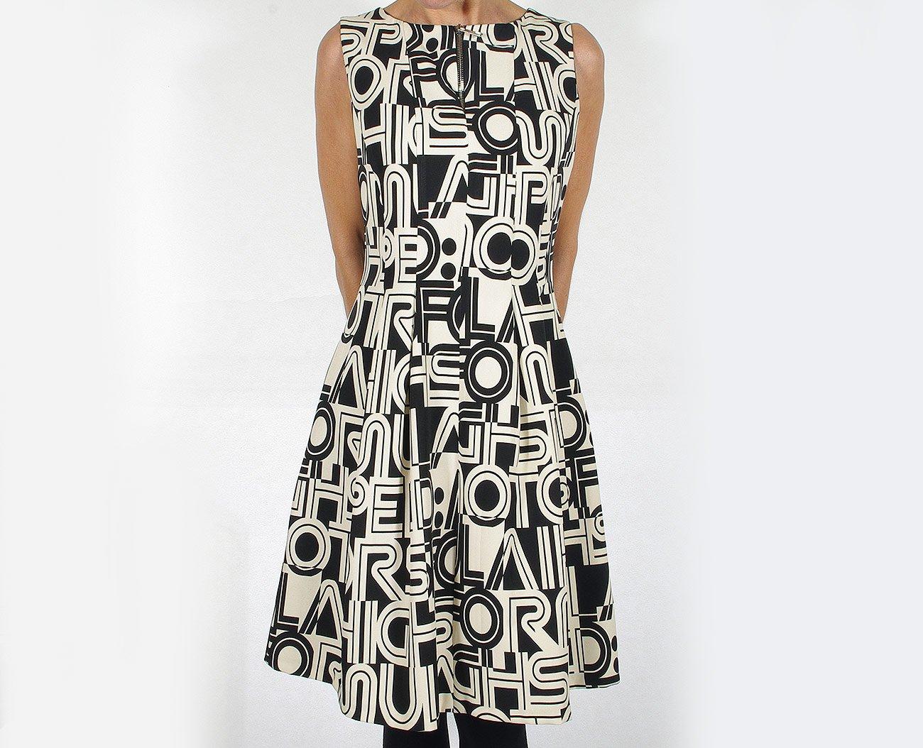 Rinascimento 88189 sukienka abito intero nero/bianco