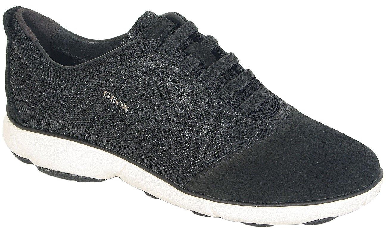 GEOX Nebula G Glit/Tex+Suede Black sneakers