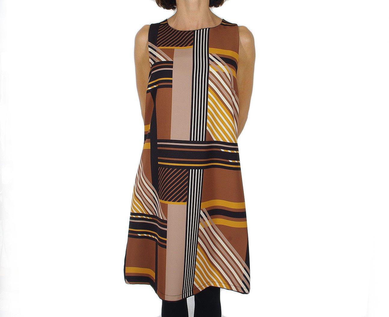 Rinascimento 16140 sukienka abito intero nero/senape