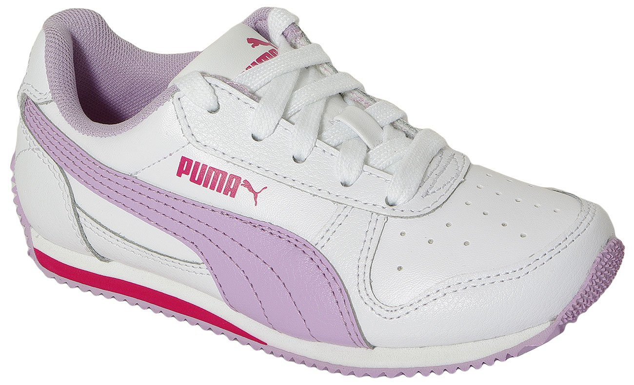 PUMA FIELDSPRINT L JR WHITE-ORCHID BLOOM 354596 SNEAKERS