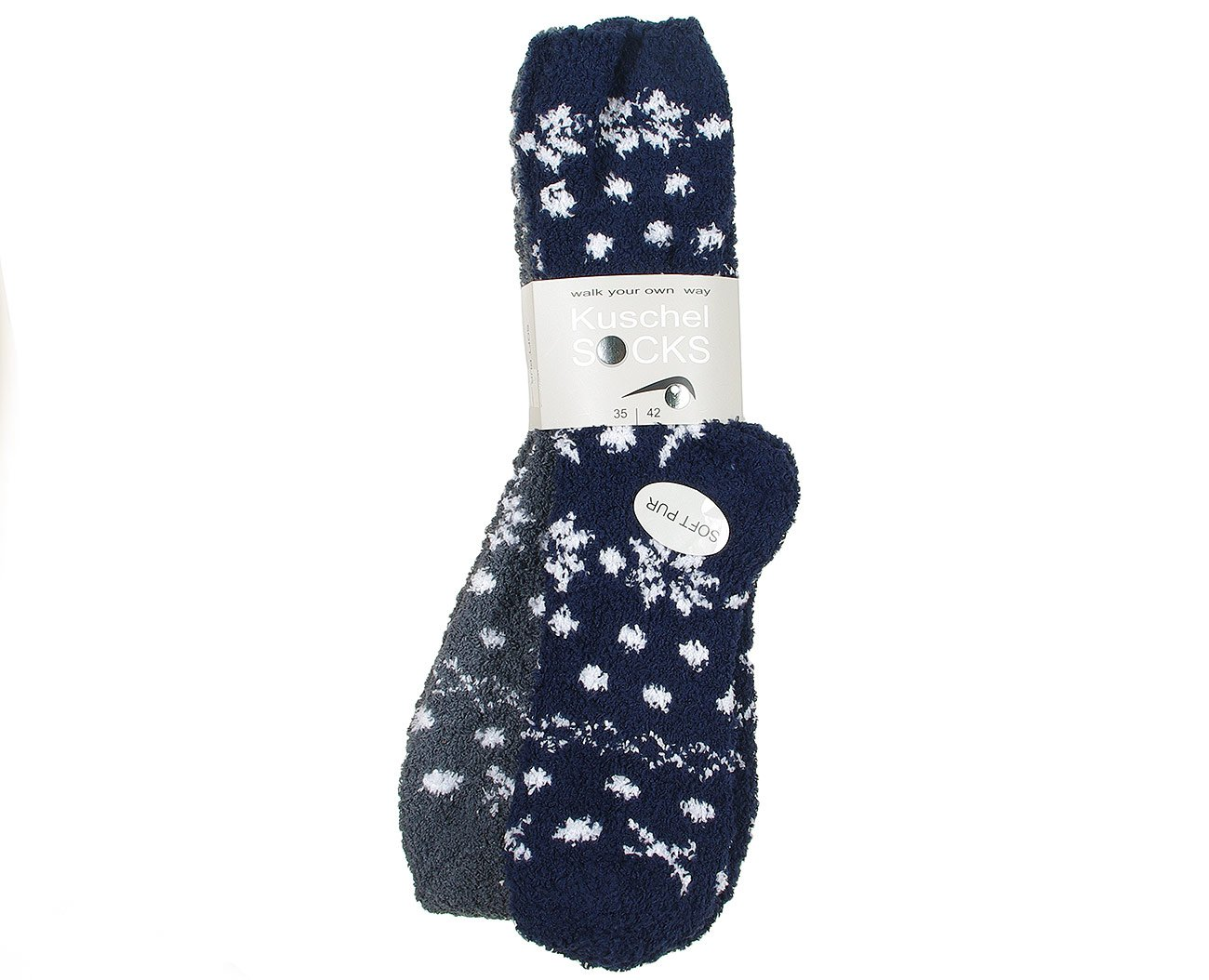 Good Socks 375952 skarpety Kuschel Socks granat/szary