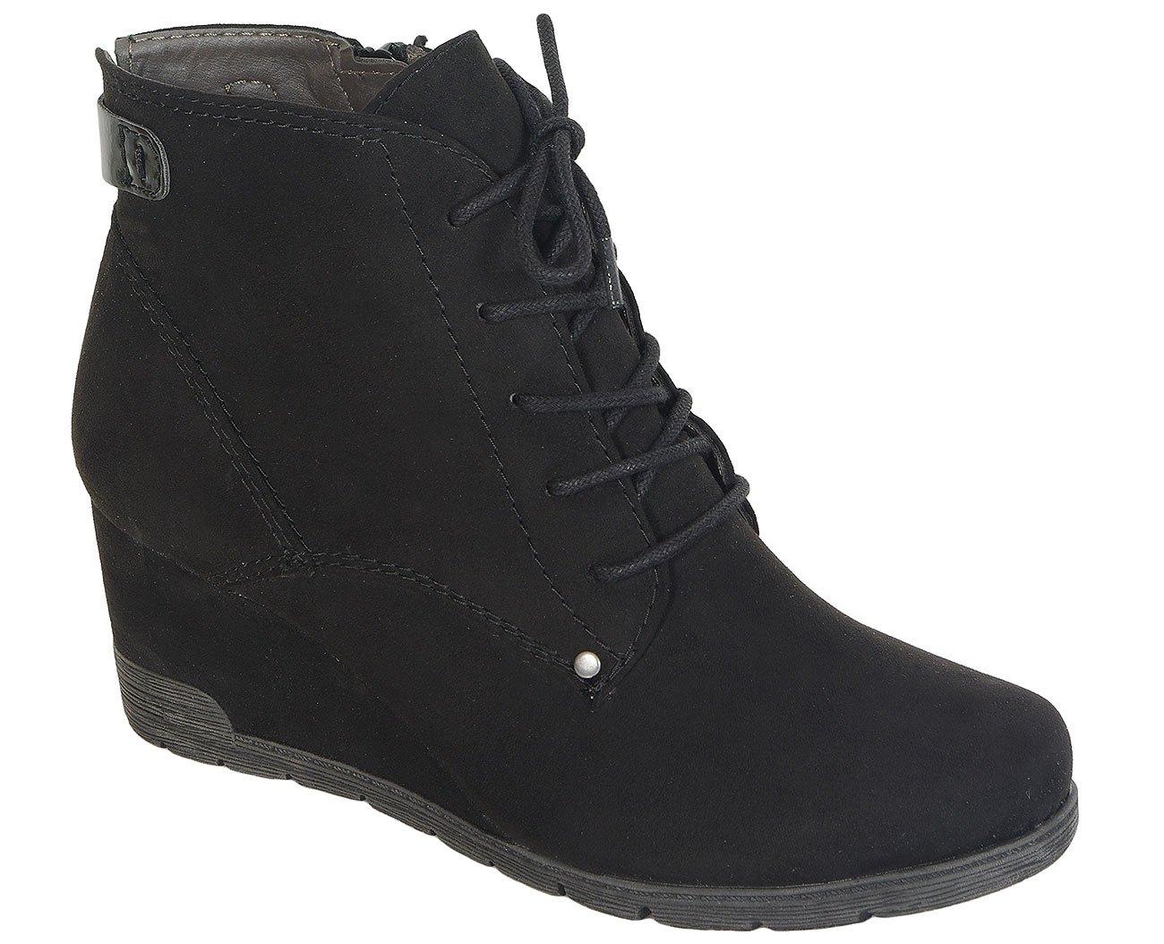 Soft Line 25162 W.H Tex Black sneakers