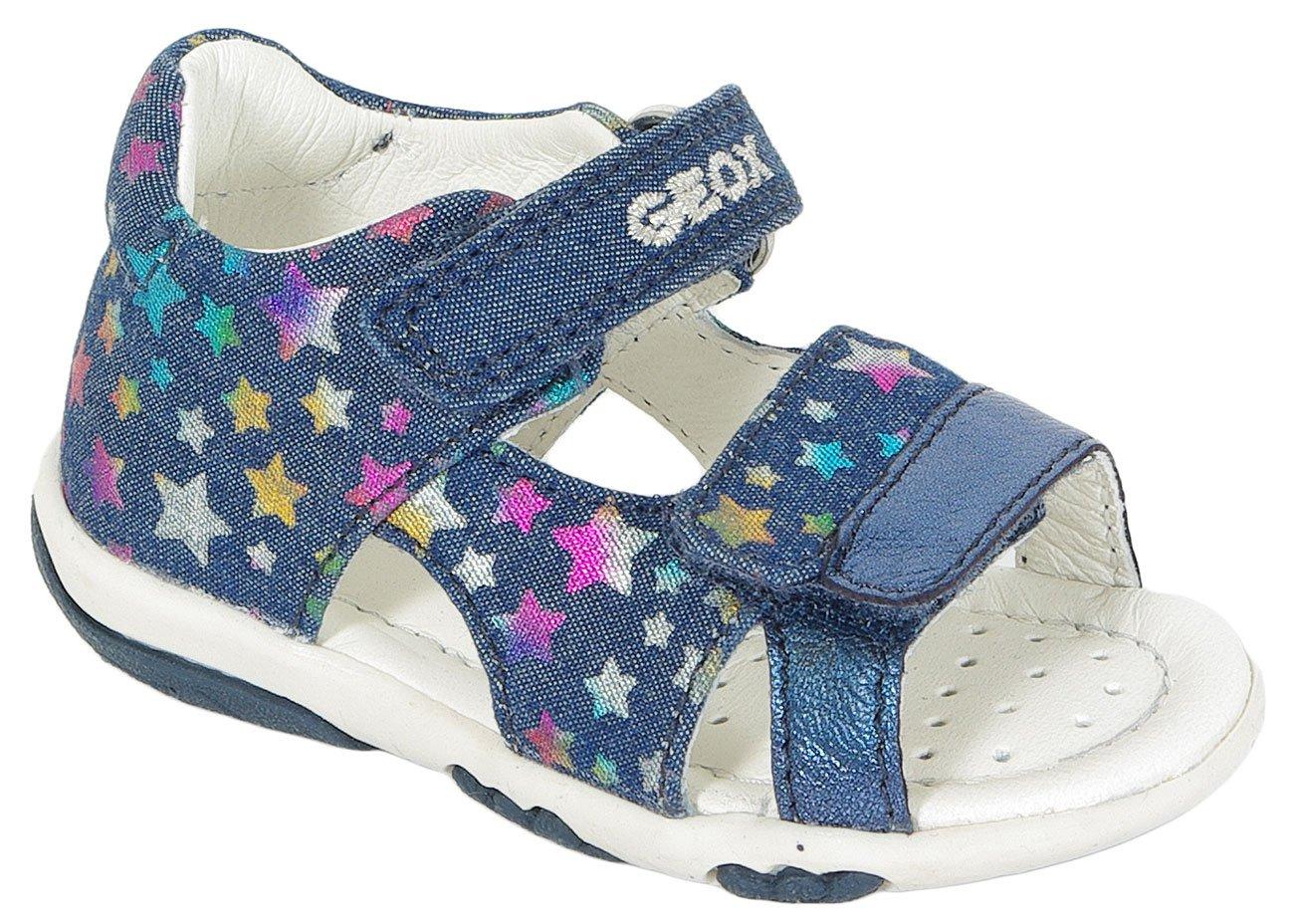 GEOX Nicely B sandały Pr Jeans+Met Goa Navy/Multicolor