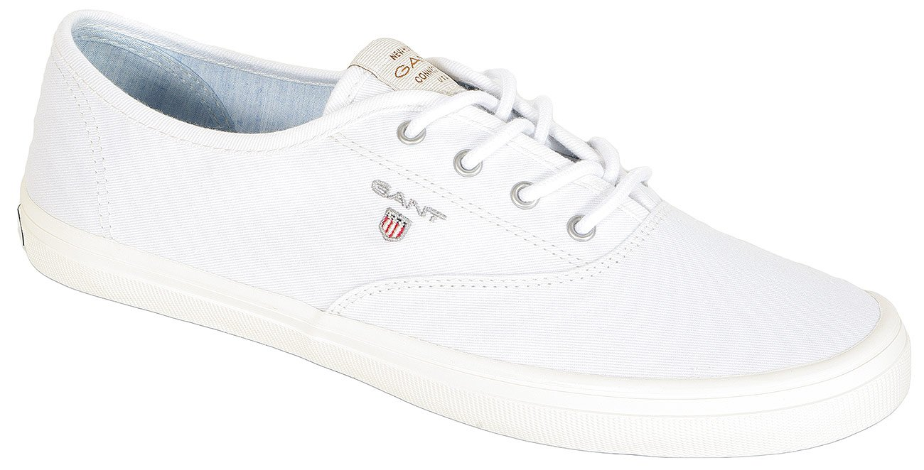 Gant New Haven sneakers washed twill bright white