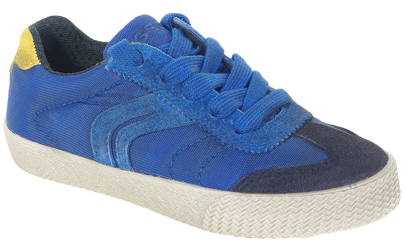 GEOX SMART D sneakers NYLON+SUEDE ROYAL/BLACK