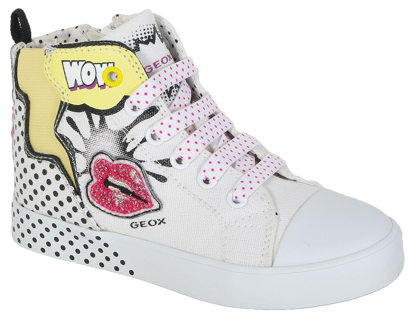GEOX Ciak G A Print Canvas White sneakers