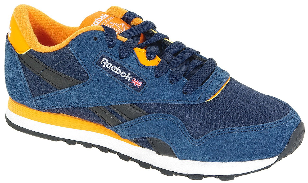 REEBOK CL NYLON RS 66928 INDIGO/BLACK/OR/WH SNEAKERS
