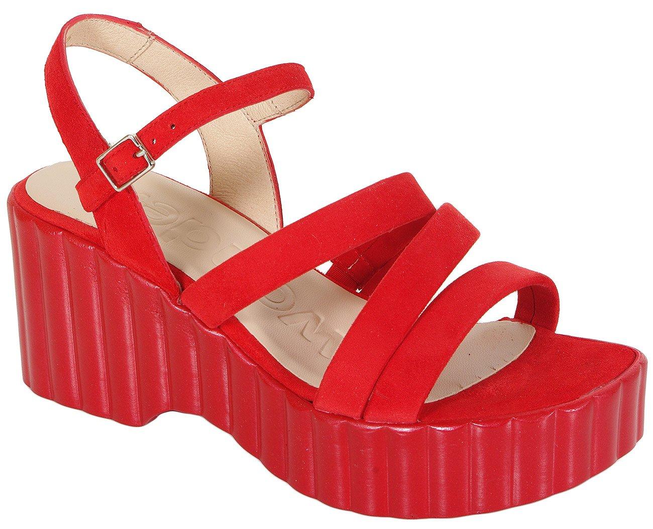 Wonders 6702 sandały ultrasuede ante rojo