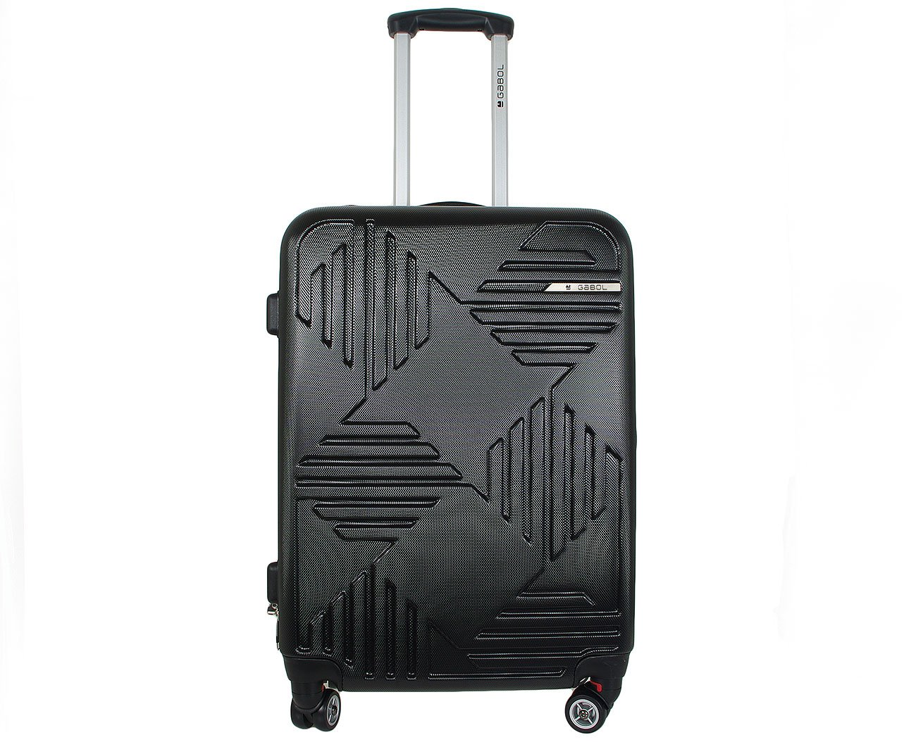 GABOL KIEV 1148 MEDIUM TROLLEY 59L 44*66*25 BLACK WALIZKA