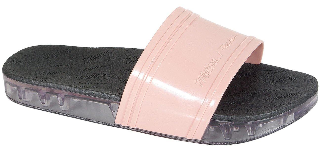 Melissa Slide + Rider Ad klapki pink/black/clear