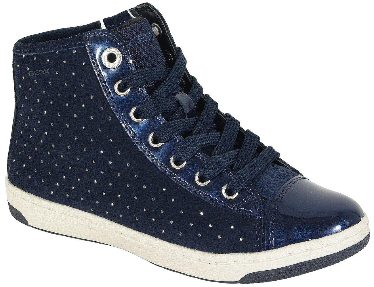 GEOX CREAMY A sneakers SUE+METAL.SYN.PAT NAVY