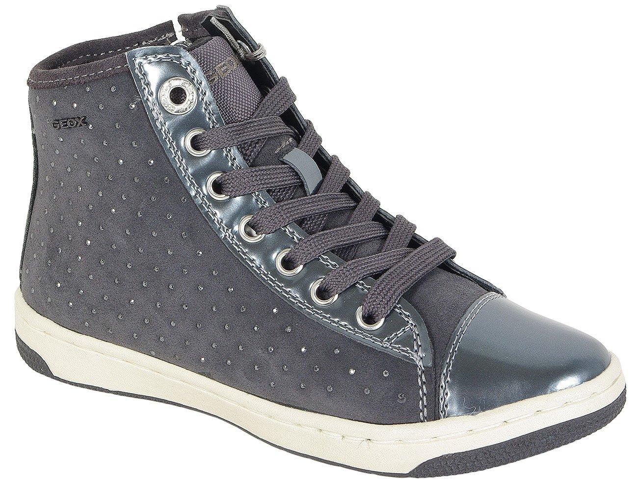 GEOX CREAMY A sneakers SUE+METAL.SYN.PAT DK GREY