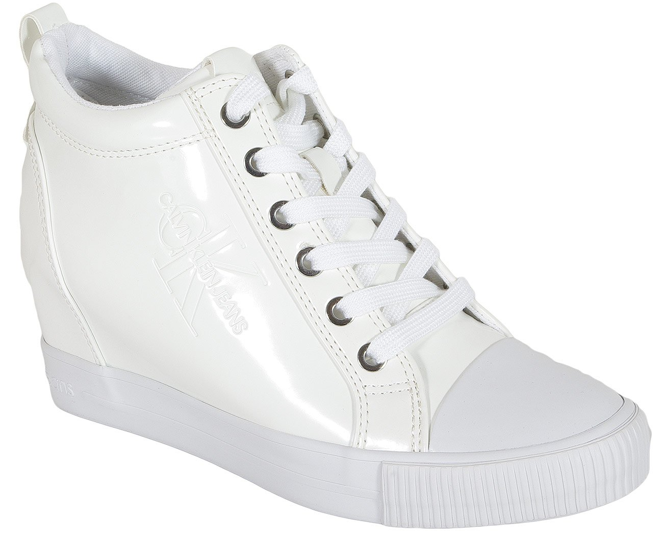 Calvin Klein Jeans Ritzy sneakers patent white