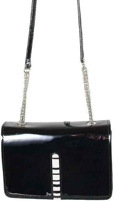 LORENZO FBB PATENT LEATHER BLACK TOREBKA