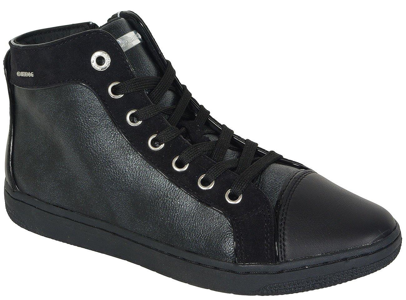 GEOX CREAMY E sneakers PERL.SY.SUE+SUE BLACK