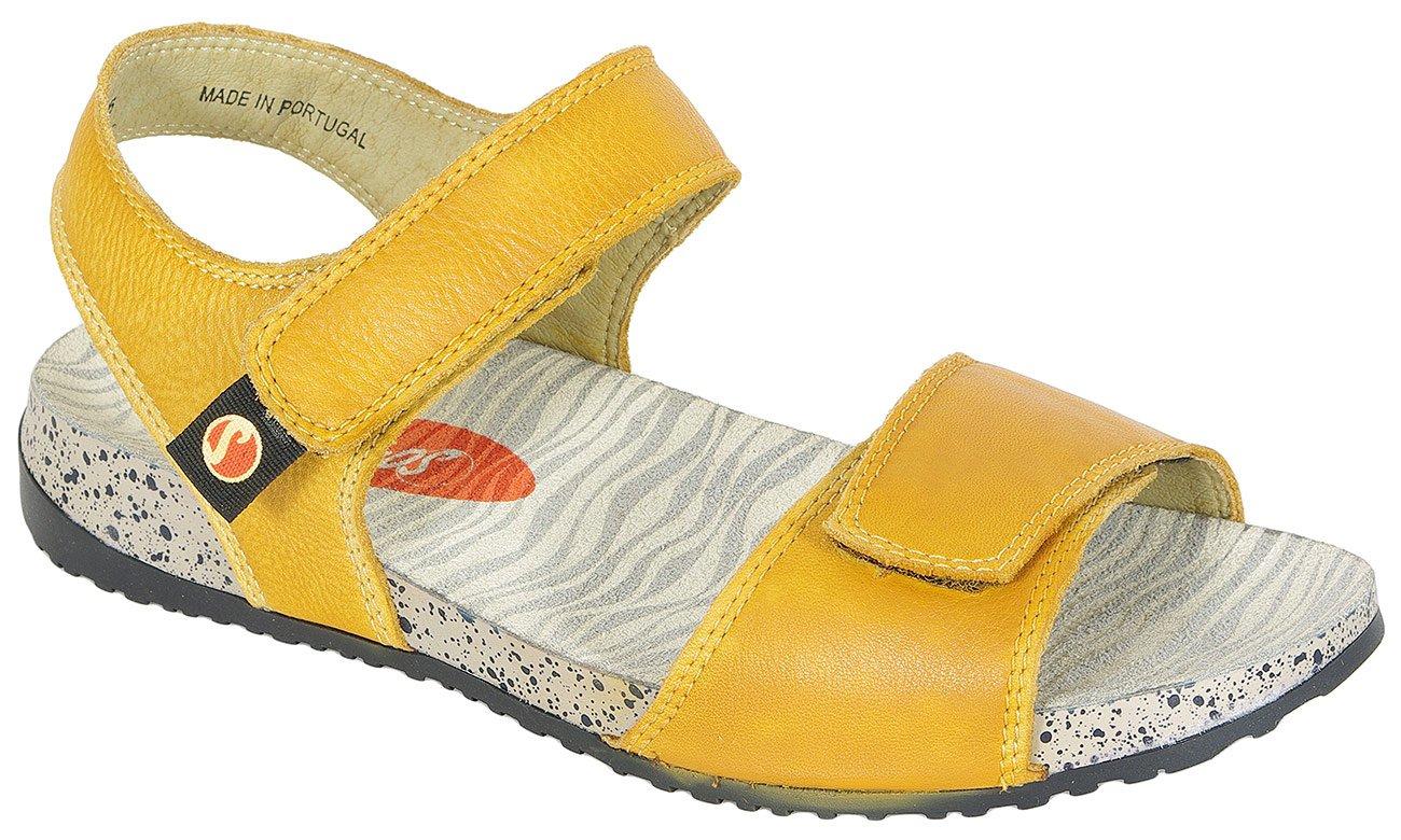 Softinos Kiva sandały washed yellow