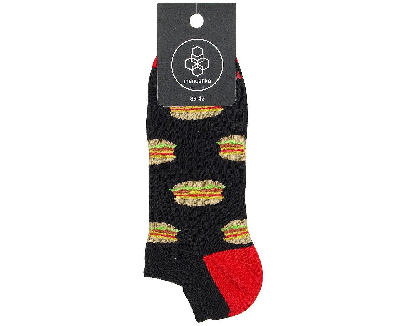 Manushka Hamburger stopki męskie czarny/czerwony/brąż