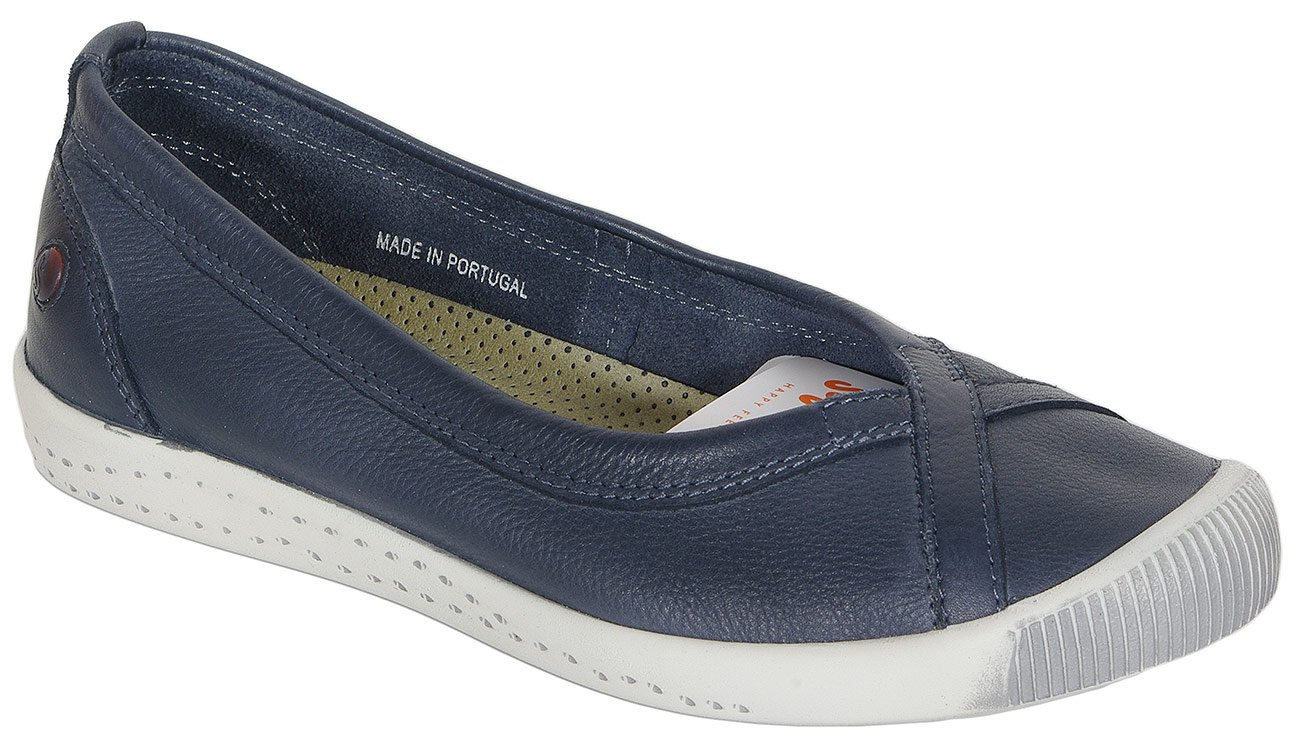 Softinos Ilma baleriny washed navy