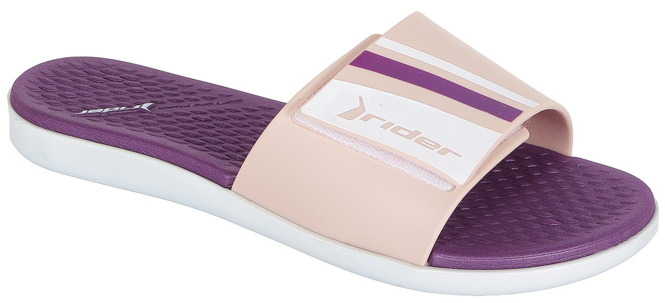 Rider Pool Fem klapki white/pink/purple