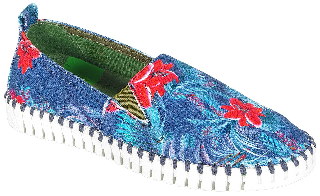 Slowwalk Bones slip on maui flower red