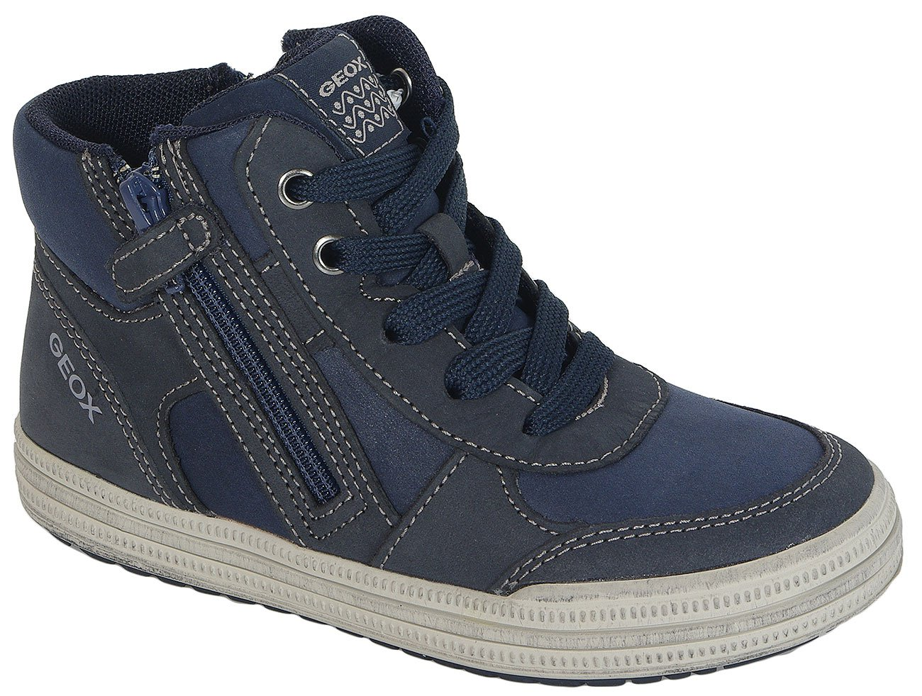 GEOX Elvis B sneakers Synt. Lea+Nbk Buff. Navy/Grey