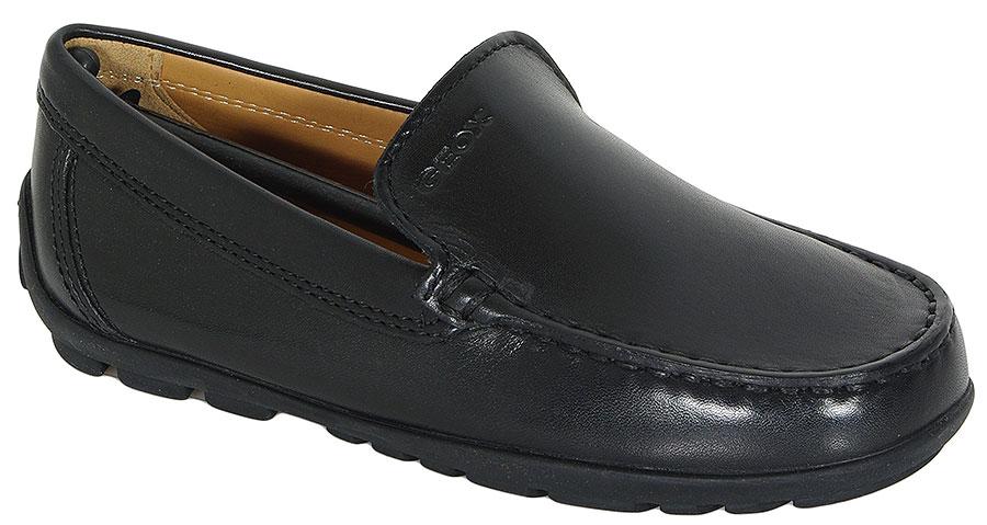 GEOX Fast A mokasyny Smooth Leather Black