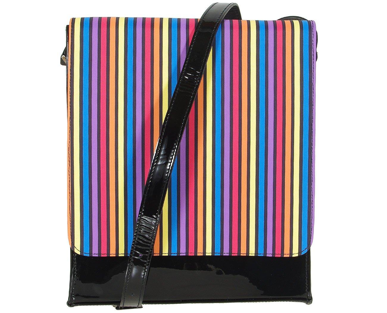 Azuree Cannes S319 torebka na ramię vernis noir tissu rayo