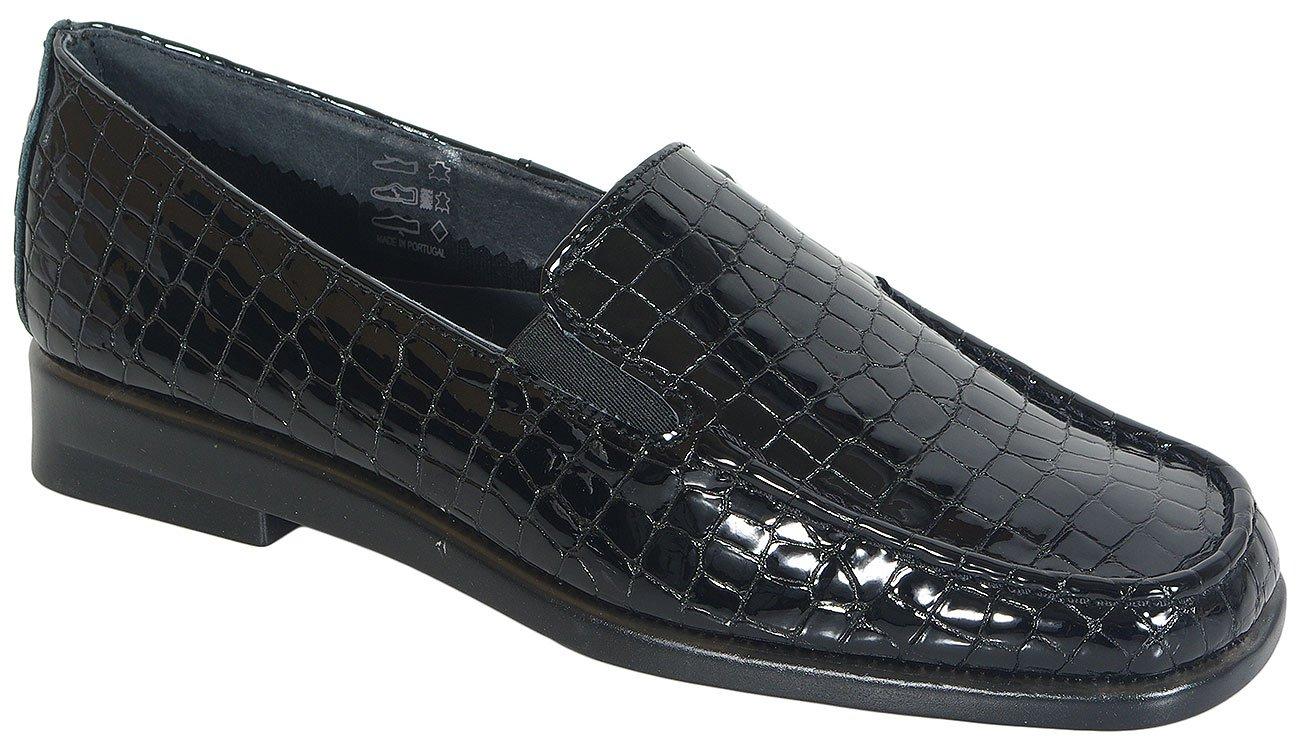 Aerobics Hellium Crocco Patent Black mokasyny
