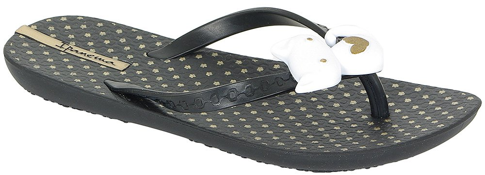 IPANEMA SUMMER LOVE III KIDS 81481 BLACK/WHITE KLAPKI