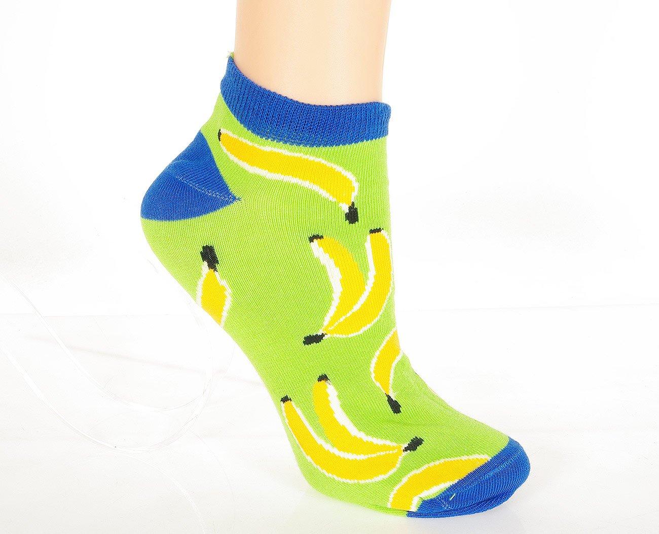 Milena Banan stopki damskie zielony/żółty