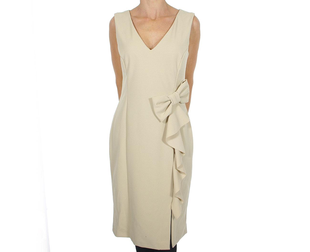 Rinascimento Abito Intero Dress Beige pp31rr83aa sukienka