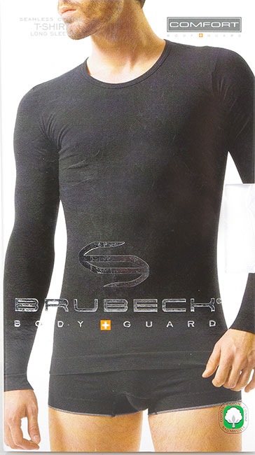 BRUBECK LS01120 LONG SLEEVE WHITE T-SHIRT