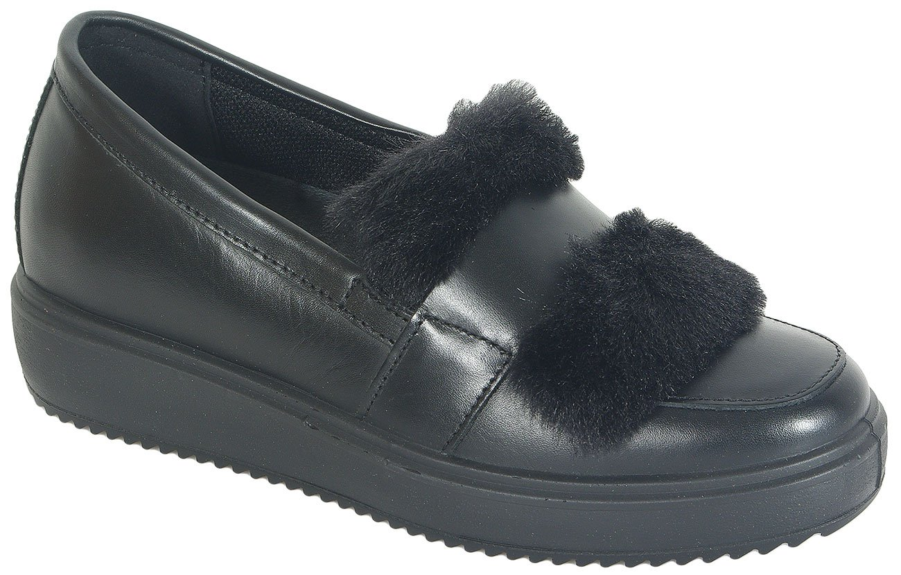 igi&co Athena Vitello Asport. Nero loafers