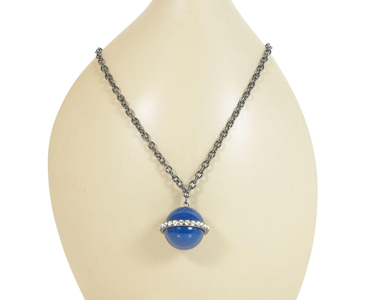 Perlita 0309302 Niebieski naszyjnik
