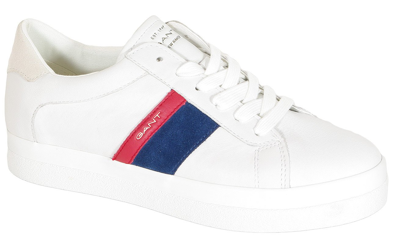 Gant Aurora sneakers leather br.wht/ind.blue/red