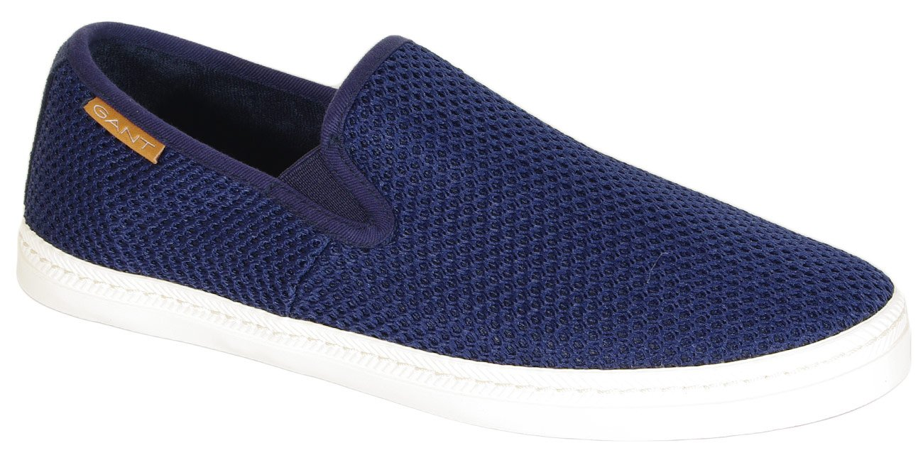 Gant Frank slip on cotton mesh marine
