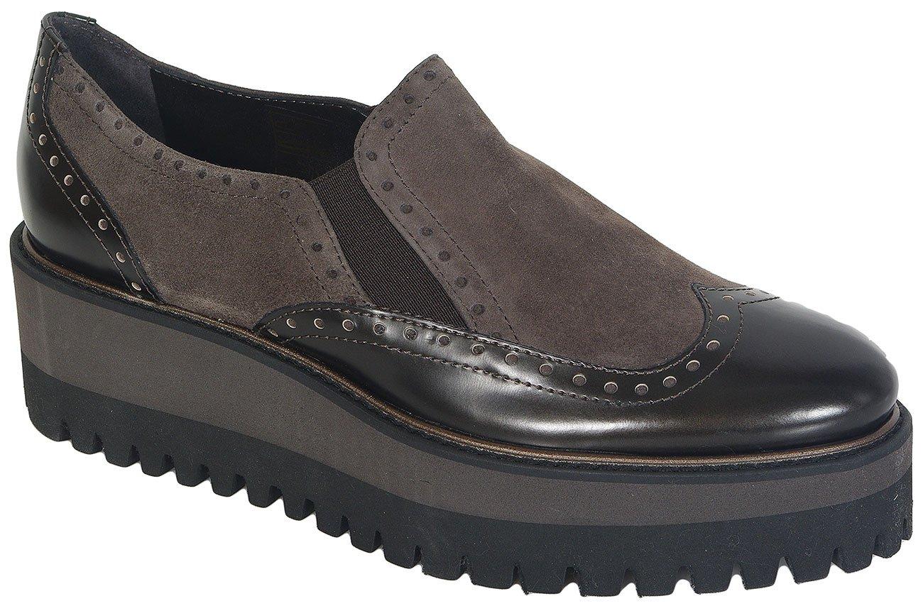 Luca Grossi 4717m Dark Met/Camoscio Torba loafers